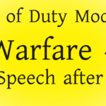 Call of Duty MW4 speech after die